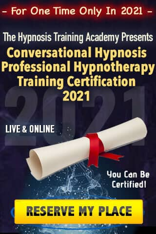 LIVE & ONLINE - Conversational Hypnosis Professional Hypnotherapy Training Certification 2021