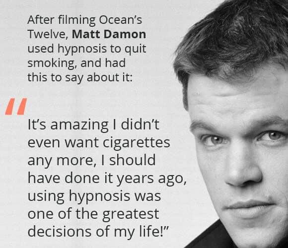 Matt Damon Hypnosis Quote
