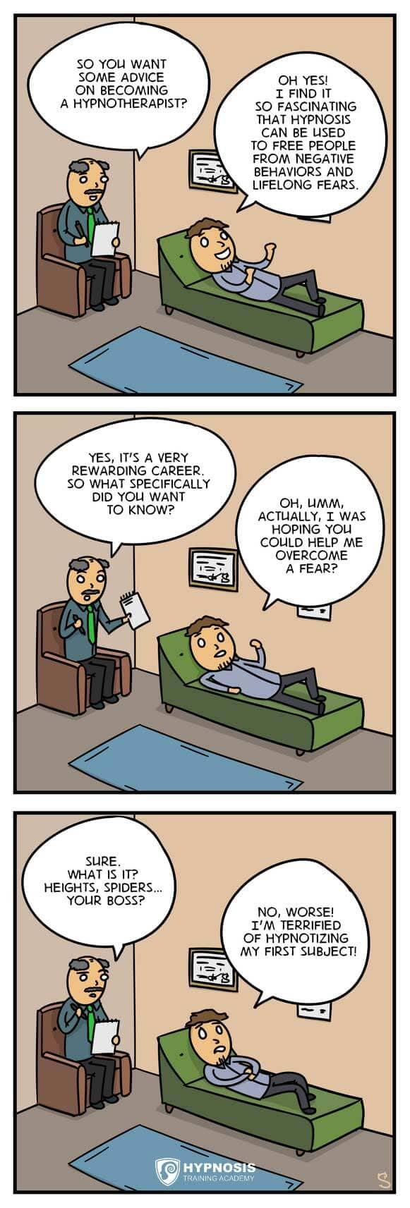 Hypnosis Comics – Unable To Induce Trance