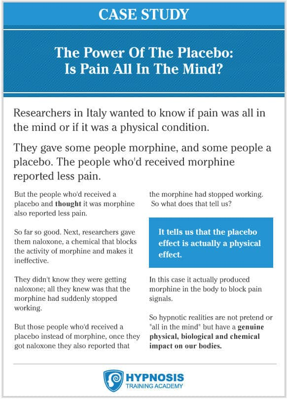 power of placebo case study