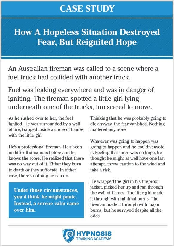 persuasion hope fear case study