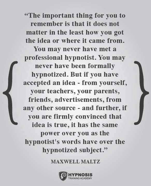 maxwell maltz quotes hypnosis subject