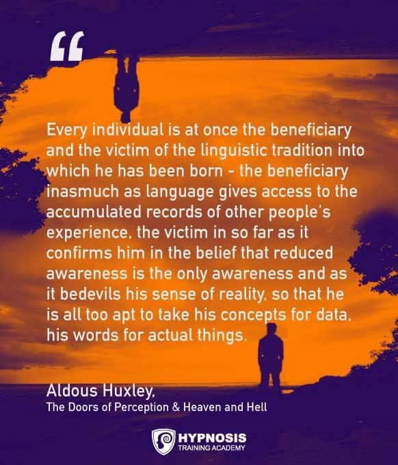 aldous huxley quotes language awareness